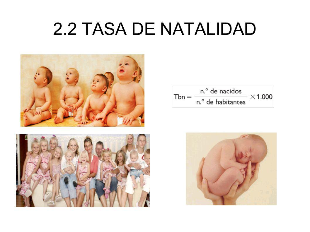 2.2 TASA DE NATALIDAD