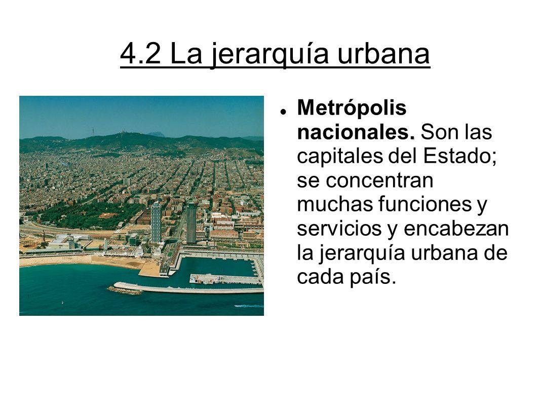 4.2 La jerarquía urbana