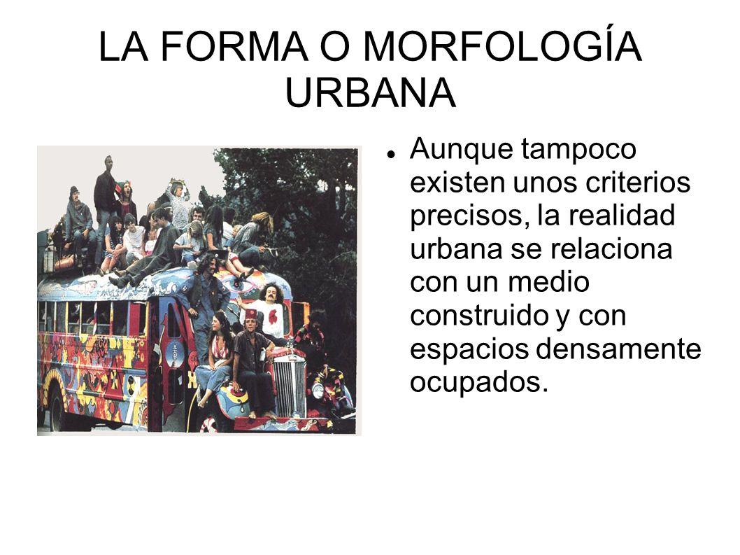 LA FORMA O MORFOLOGÍA URBANA