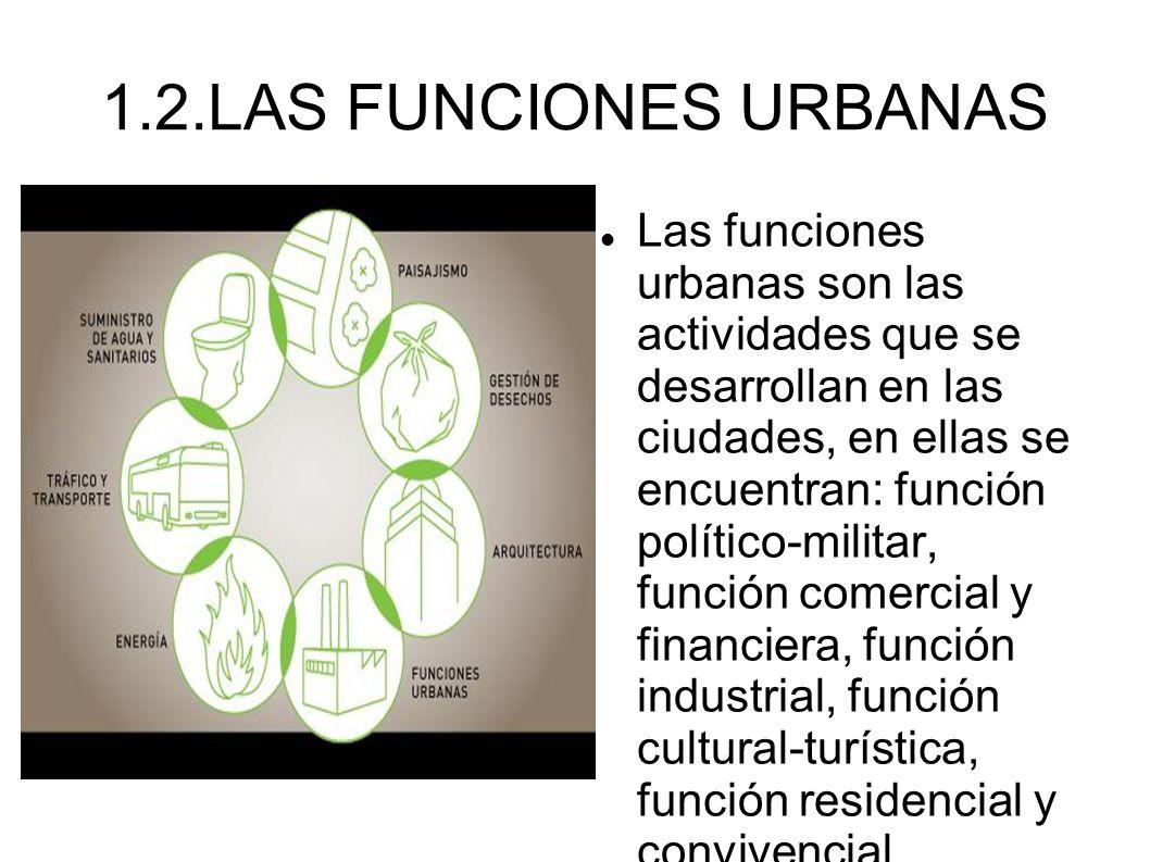 1.2.LAS FUNCIONES URBANAS