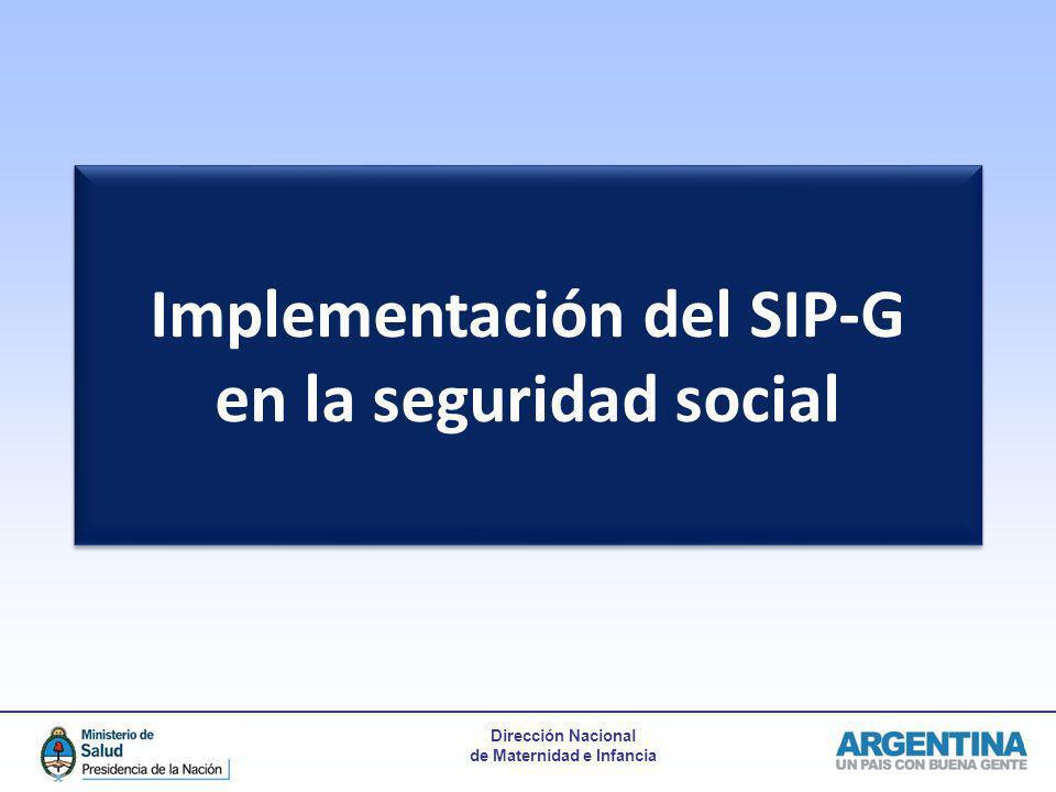 Implementación del SIP-G