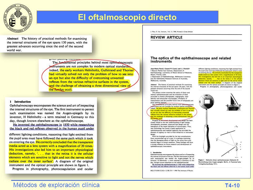 El oftalmoscopio directo