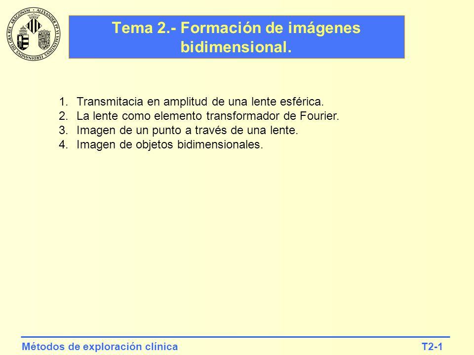Tema 2.- Formación de imágenes bidimensional.