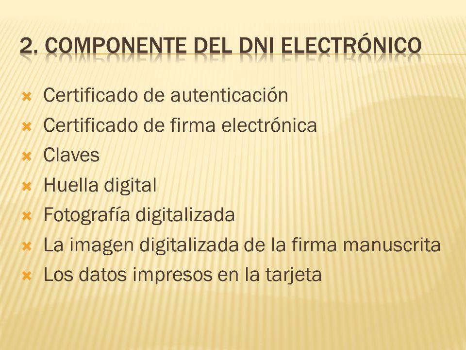 2. Componente del DNI electrónico