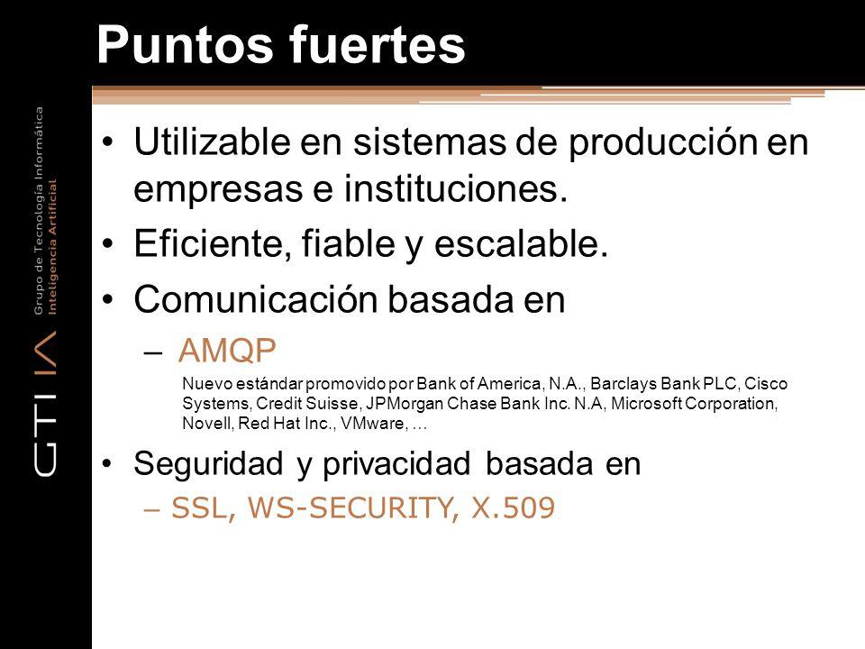 Puntos fuertes Utilizable en sistemas de producción en empresas e instituciones. Eficiente, fiable y escalable.