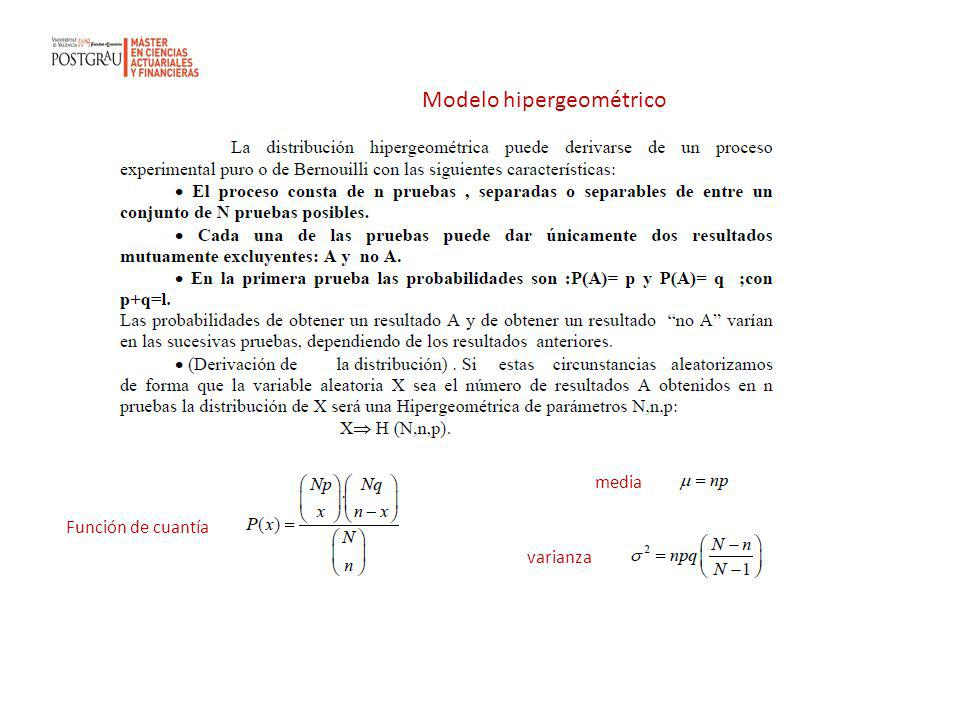 Modelo hipergeométrico