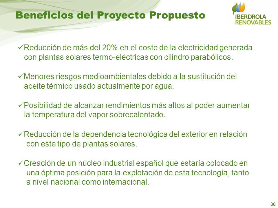 Beneficios del Proyecto Propuesto
