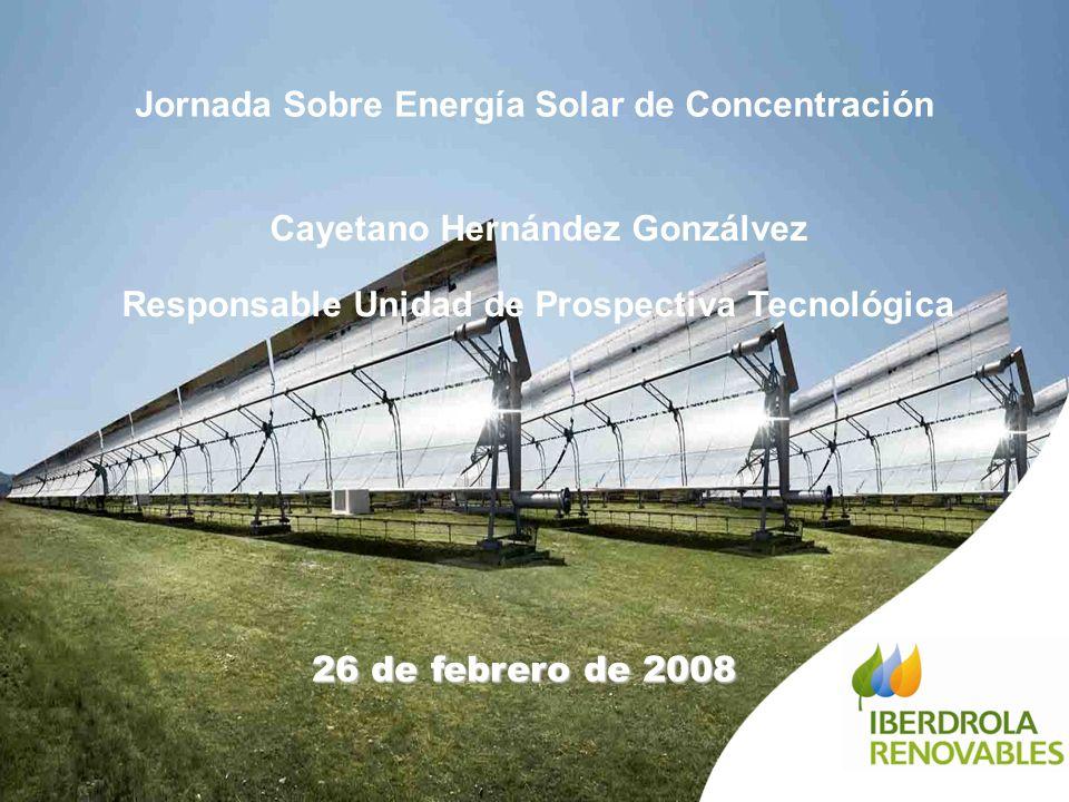 Jornada Sobre Energía Solar de Concentración