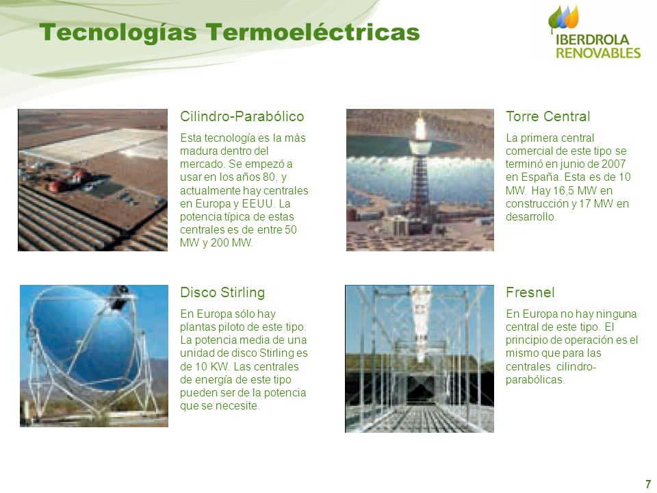Tecnologías Termoeléctricas