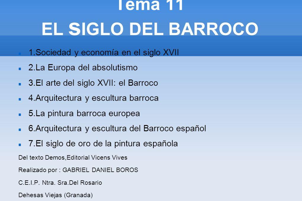 Tema 11 EL sIGLO DEL BARROCO