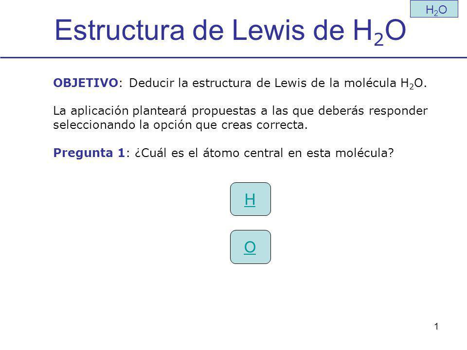 Estructura de Lewis de H2O
