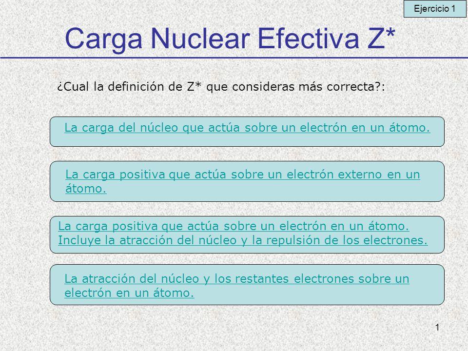 Carga Nuclear Efectiva Z*