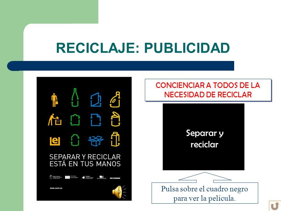RECICLAJE: PUBLICIDAD