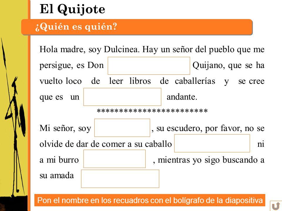 El Quijote ¿Quién es quién