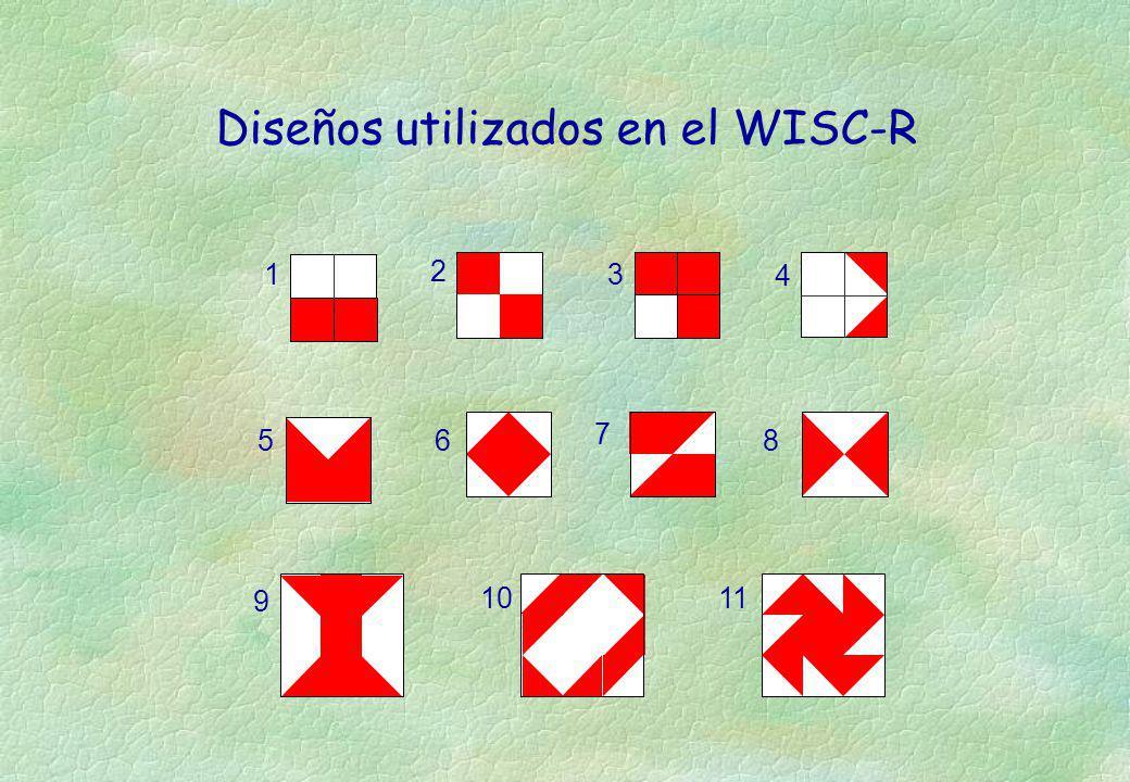 Diseños utilizados en el WISC-R