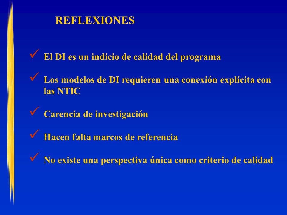REFLEXIONES El DI es un indicio de calidad del programa
