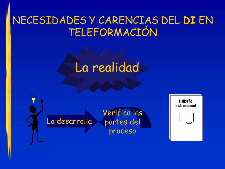  La realidad NECESIDADES Y CARENCIAS DEL DI EN TELEFORMACIÓN