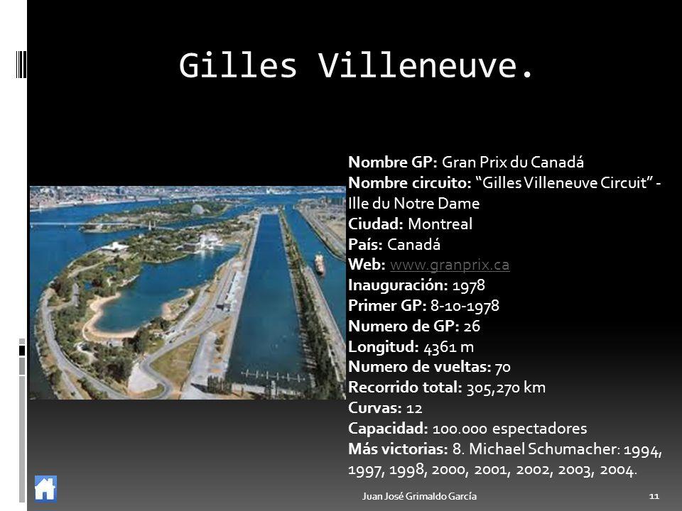 Gilles Villeneuve. Nombre GP: Gran Prix du Canadá