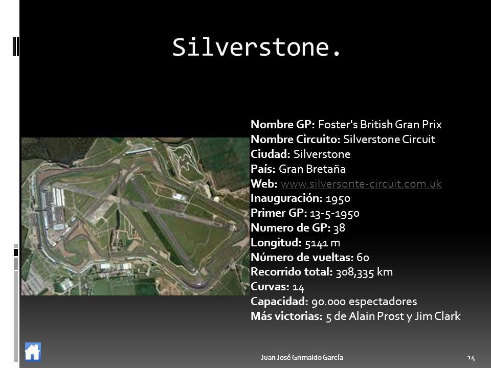 Silverstone. Nombre GP: Foster s British Gran Prix