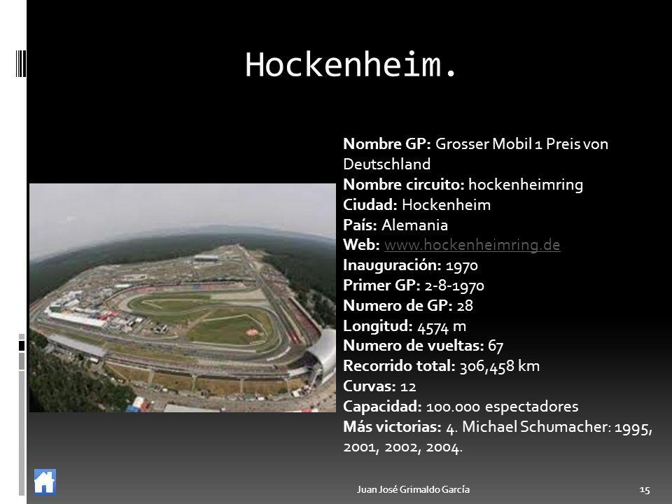 Hockenheim. Nombre GP: Grosser Mobil 1 Preis von Deutschland