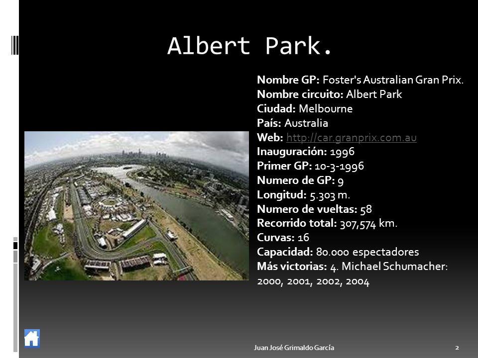 Albert Park. Nombre GP: Foster s Australian Gran Prix.