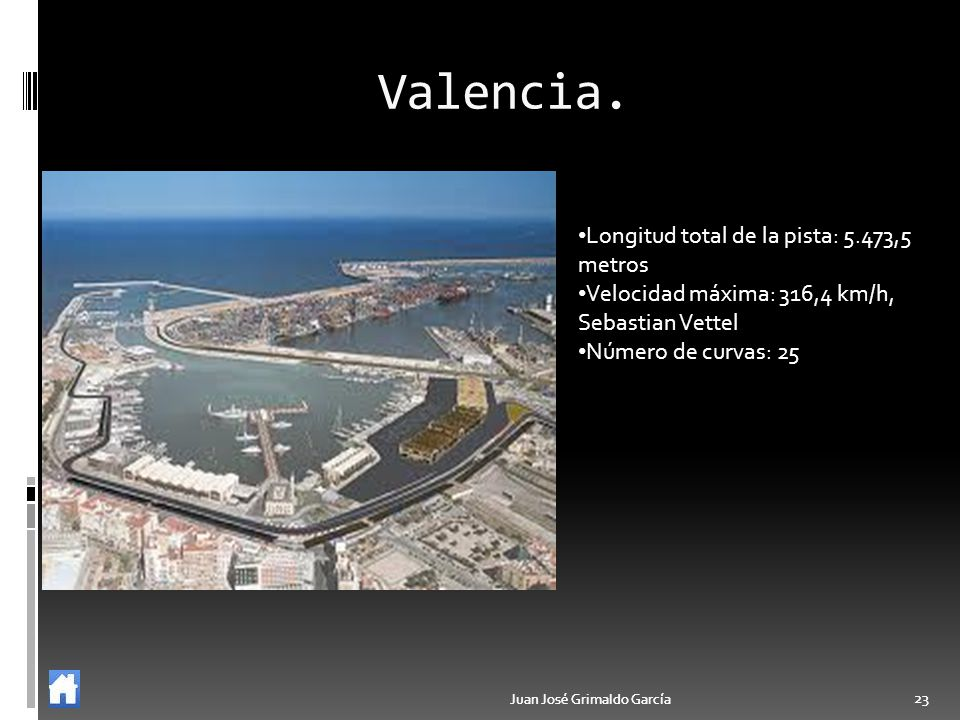 Valencia. Longitud total de la pista: 5.473,5 metros