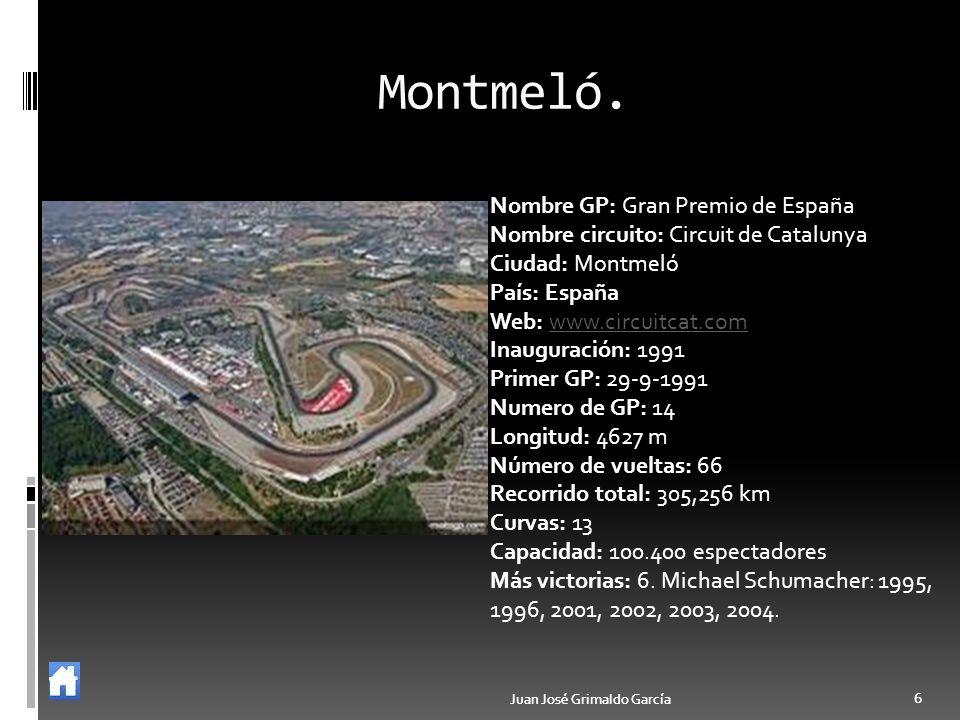 Montmeló. Nombre GP: Gran Premio de España
