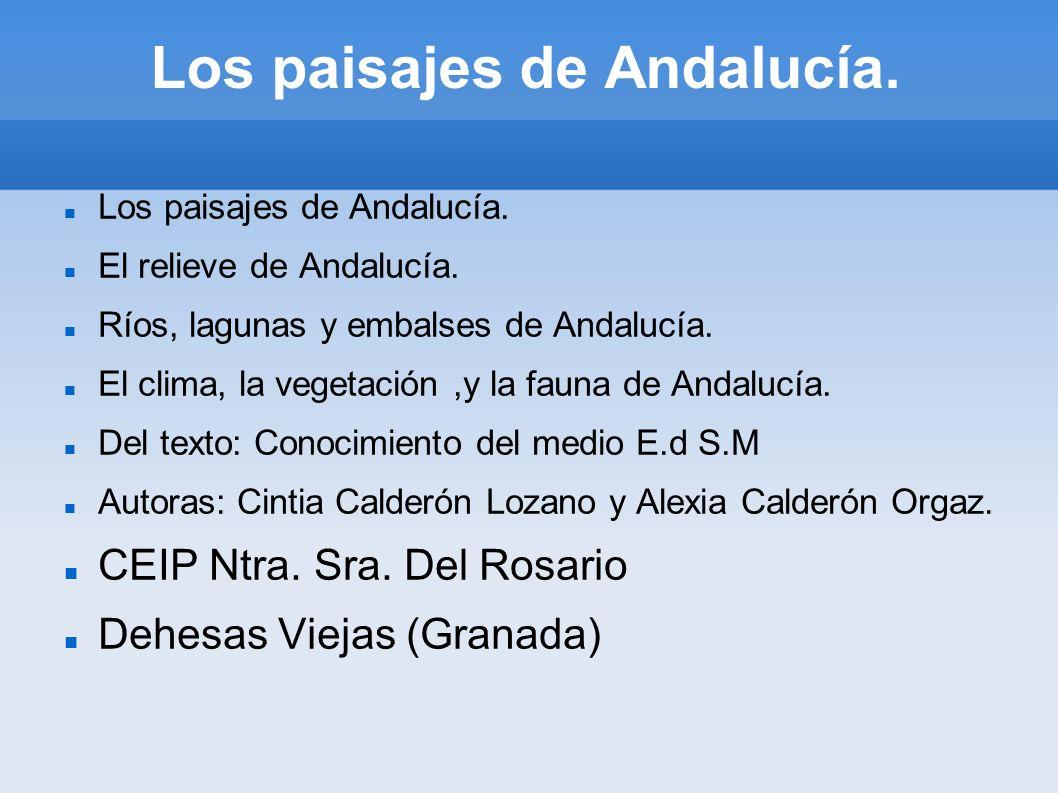 Los paisajes de Andalucía.