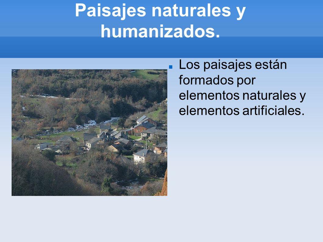 Paisajes naturales y humanizados.