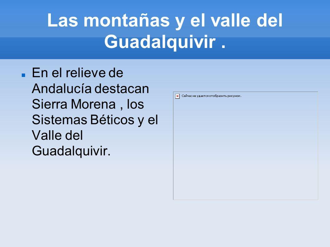Las montañas y el valle del Guadalquivir .