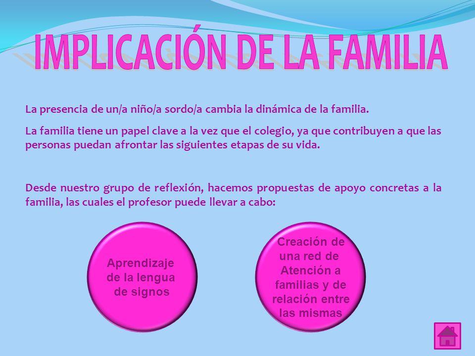 IMPLICACIÓN DE LA FAMILIA