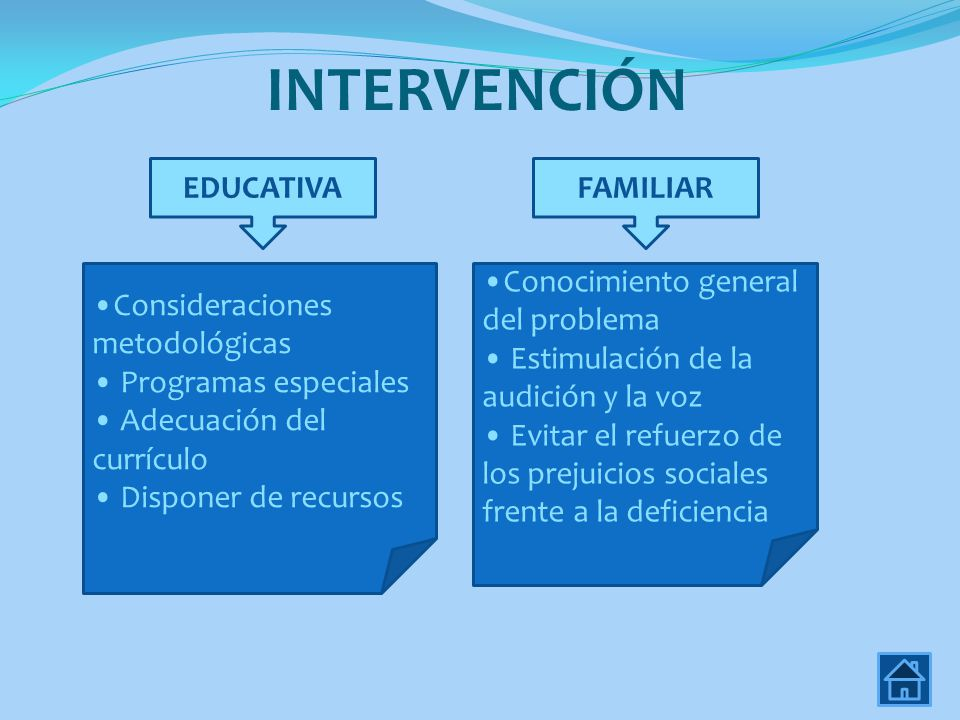 INTERVENCIÓN EDUCATIVA FAMILIAR Consideraciones metodológicas