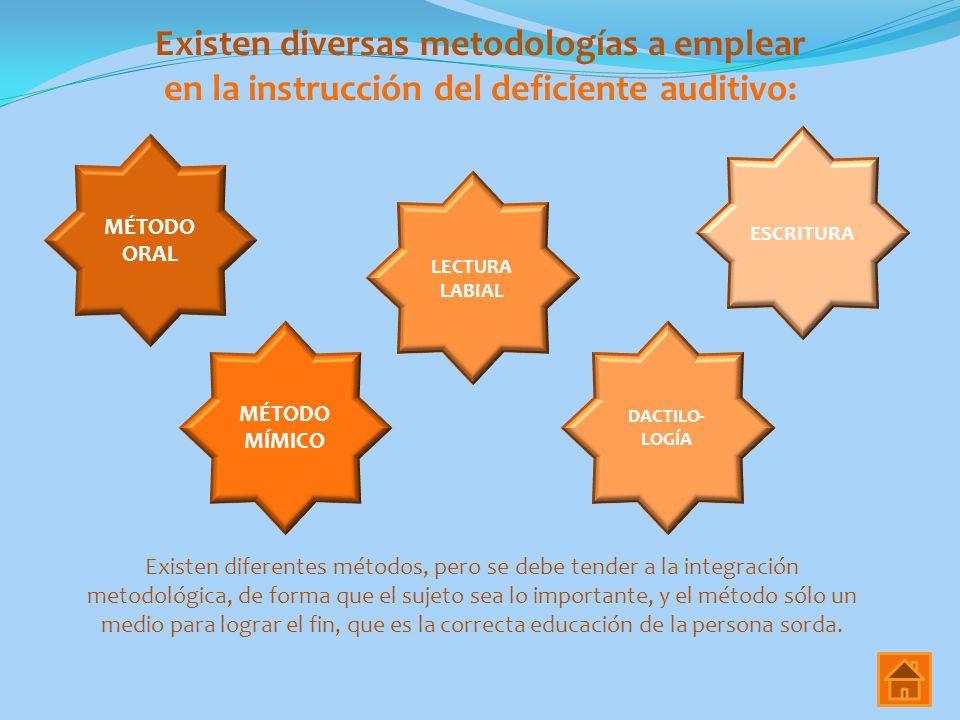 Existen diversas metodologías a emplear