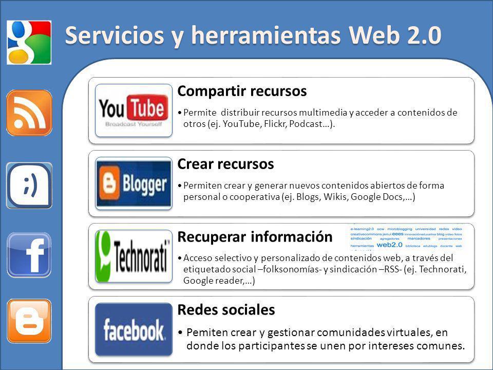 Servicios y herramientas Web 2.0