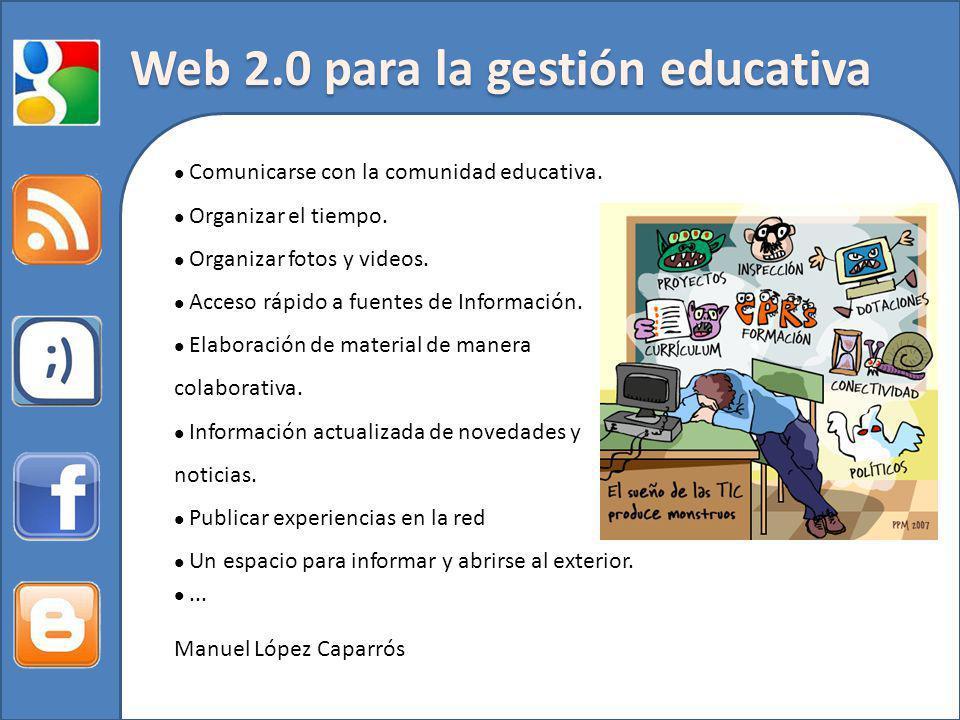 Web 2.0 para la gestión educativa