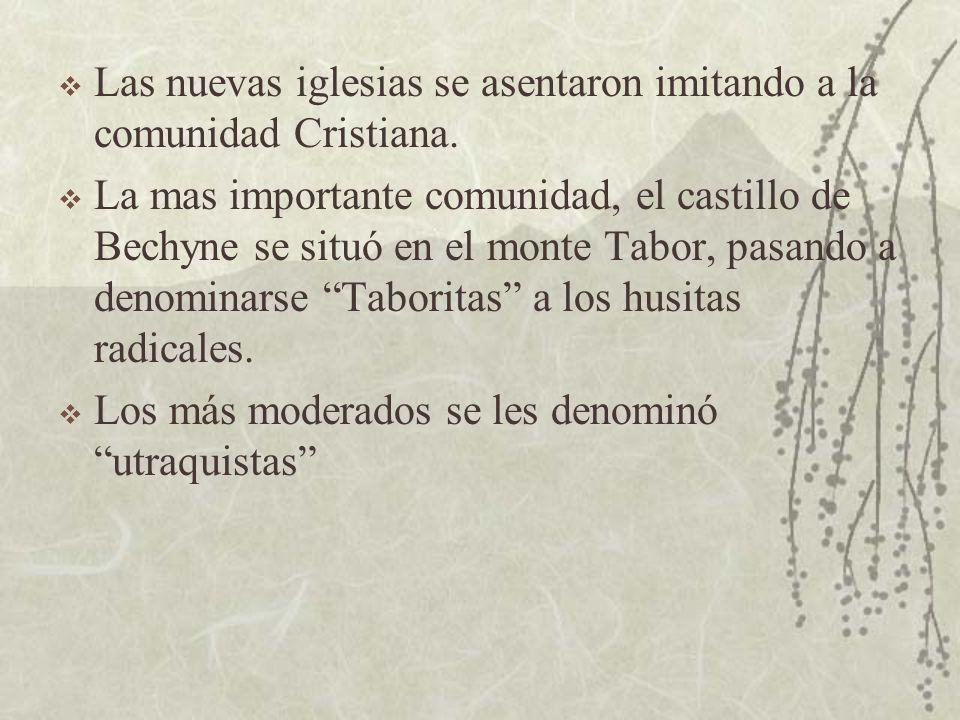 Las nuevas iglesias se asentaron imitando a la comunidad Cristiana.