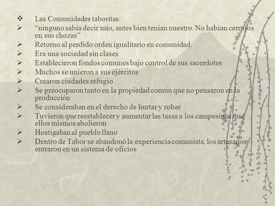 Las Comunidades taboritas: