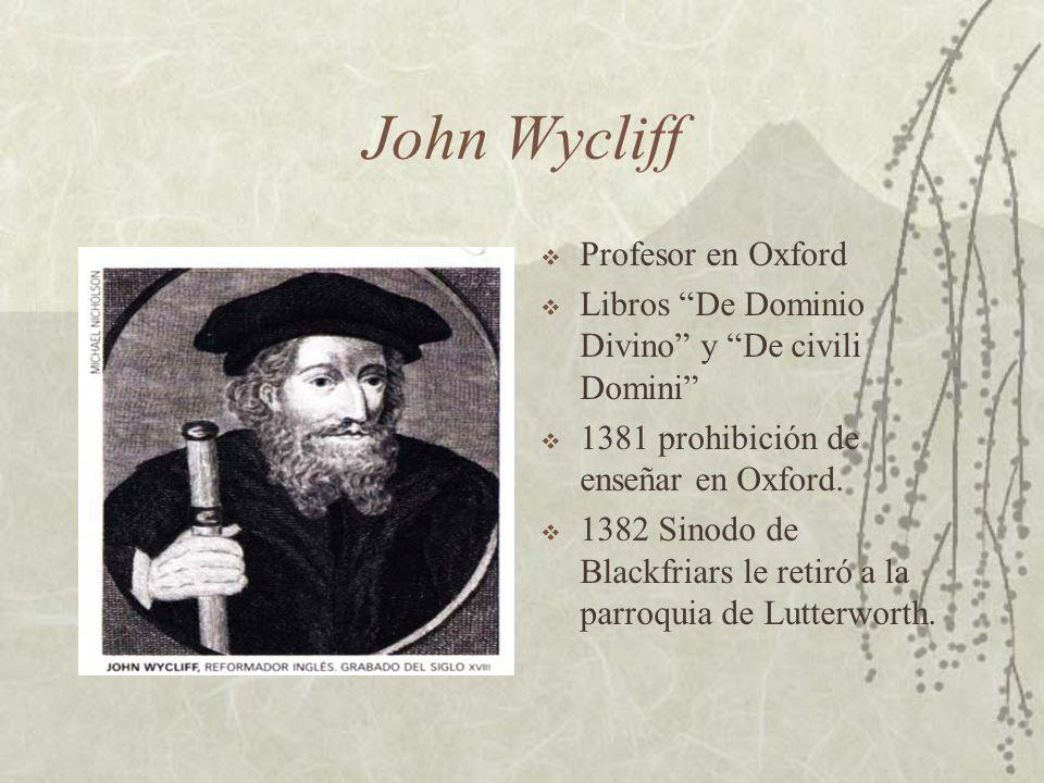 John Wycliff Profesor en Oxford