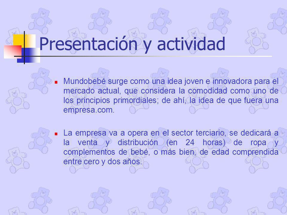 Presentación y actividad