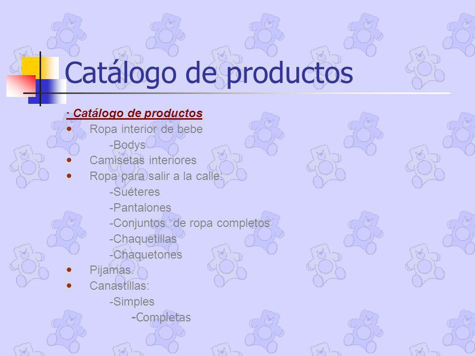 Catálogo de productos · Catálogo de productos · Ropa interior de bebe
