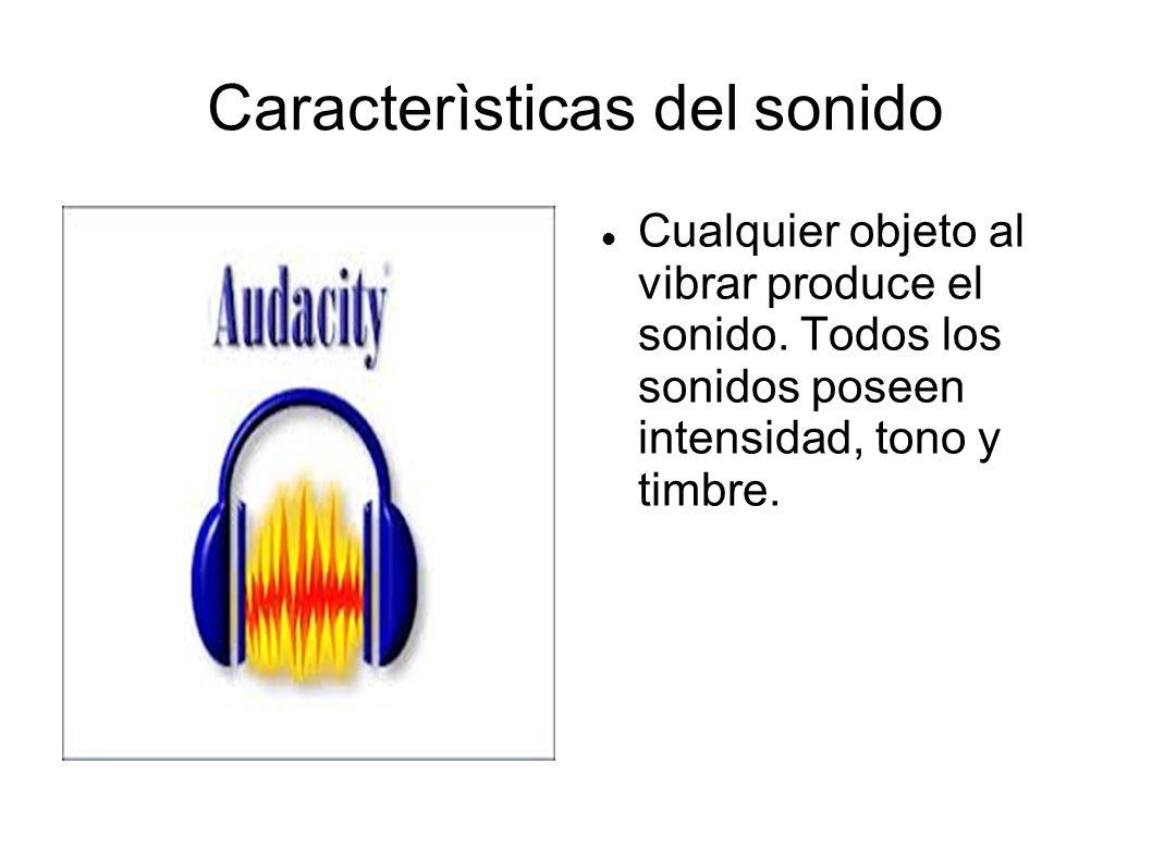 Caracterìsticas del sonido