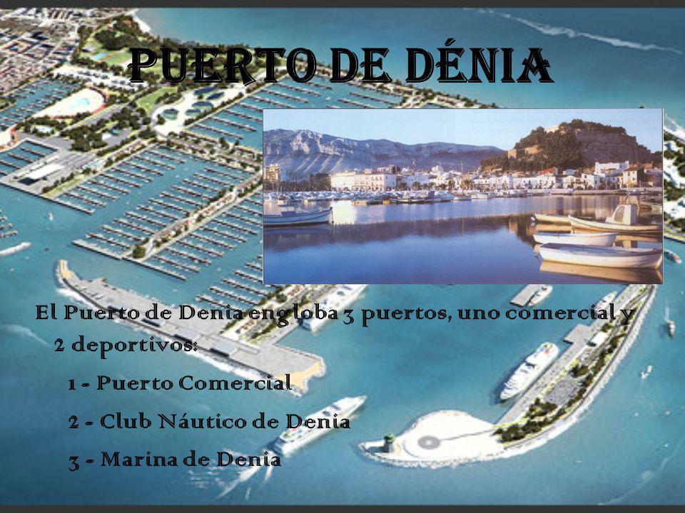 PUERTO DE DÉNIA El Puerto de Denia engloba 3 puertos, uno comercial y 2 deportivos: 1 - Puerto Comercial.