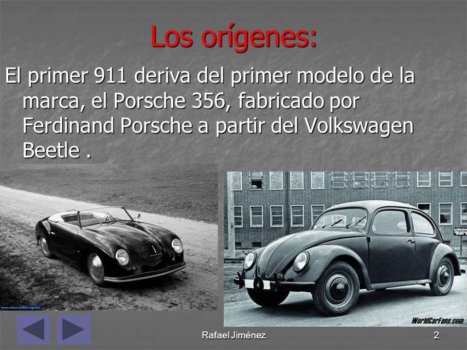 El primer 911 deriva del primer modelo de la marca, el Porsche 356, fabricado por Ferdinand Porsche a partir del Volkswagen Beetle .