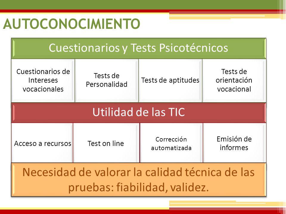 AUTOCONOCIMIENTO Cuestionarios y Tests Psicotécnicos