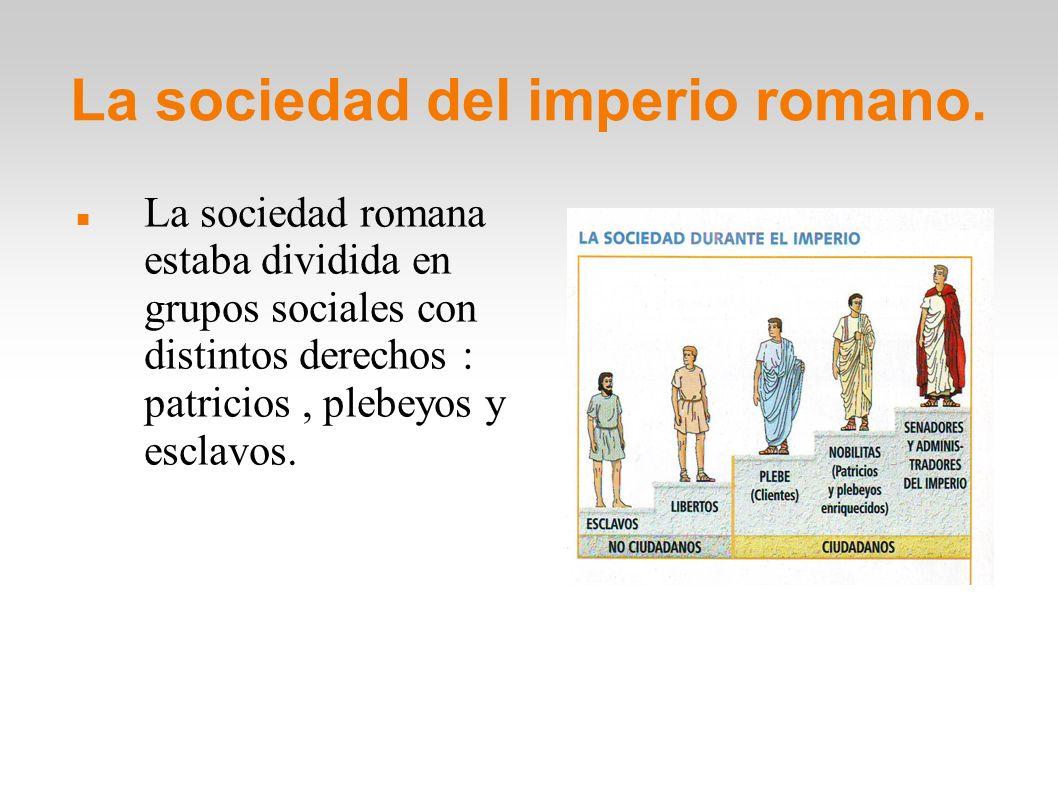La sociedad del imperio romano.