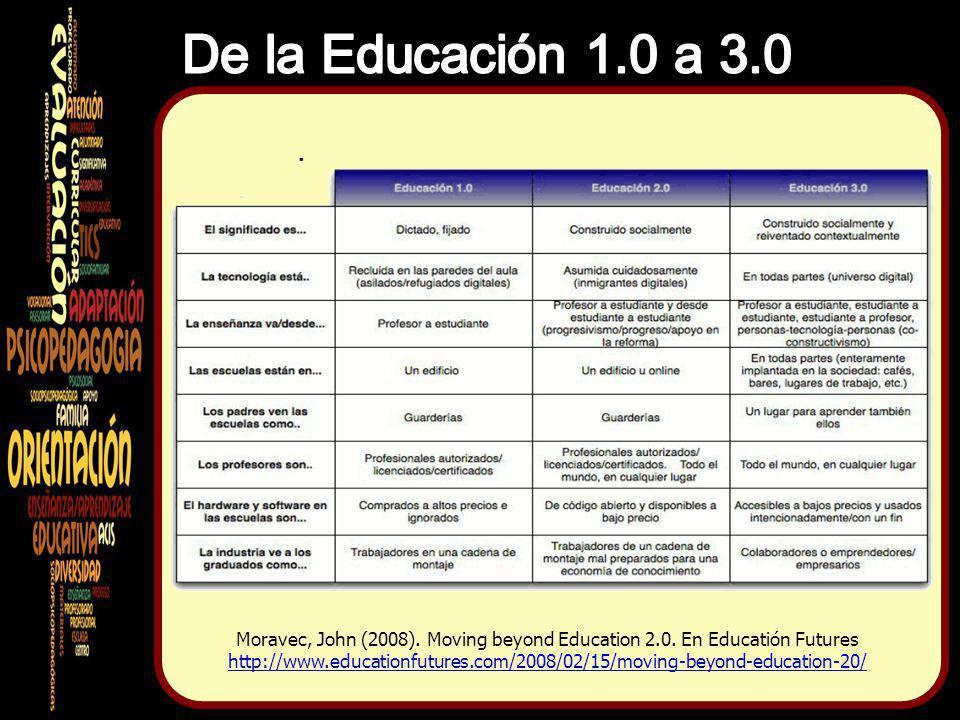 De la Educación 1.0 a 3.0