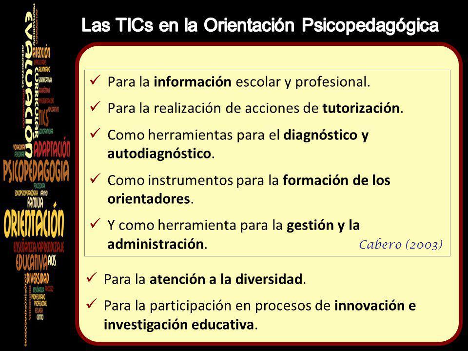 Las TICs en la Orientación Psicopedagógica