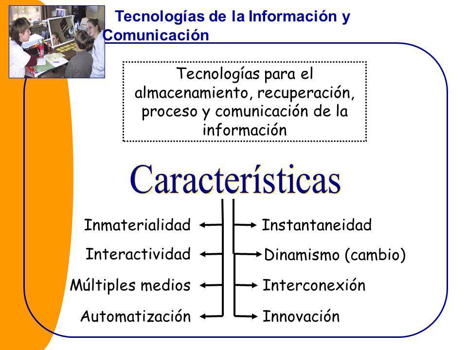 Características Tecnologías de la Información y Comunicación