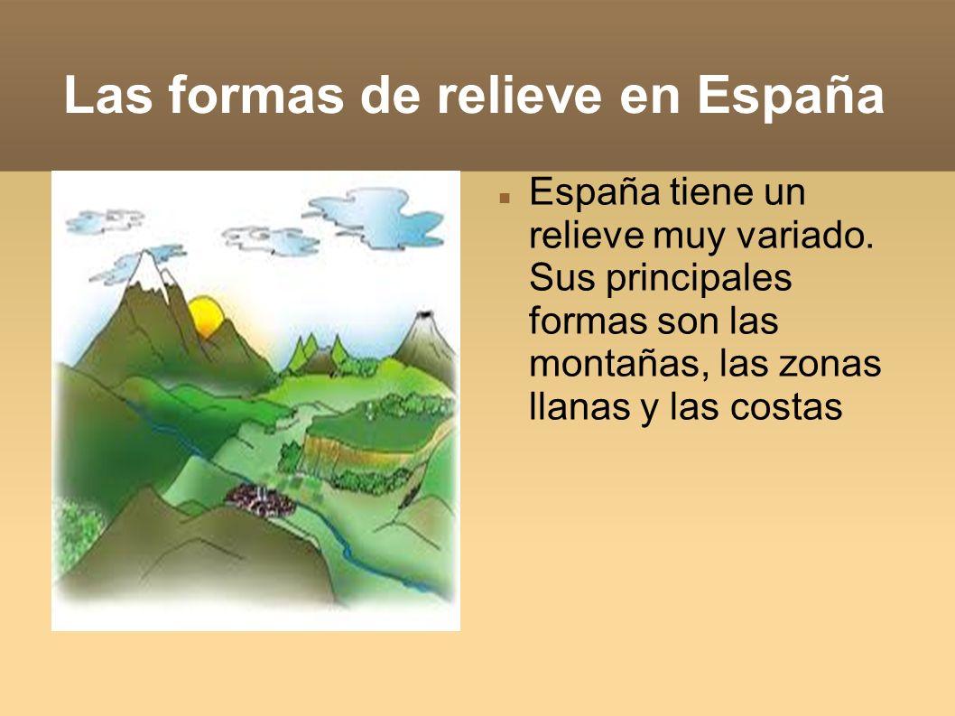 Las formas de relieve en España