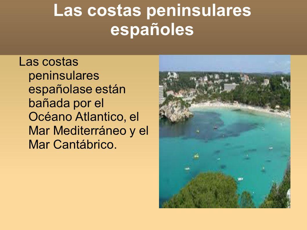 Las costas peninsulares españoles